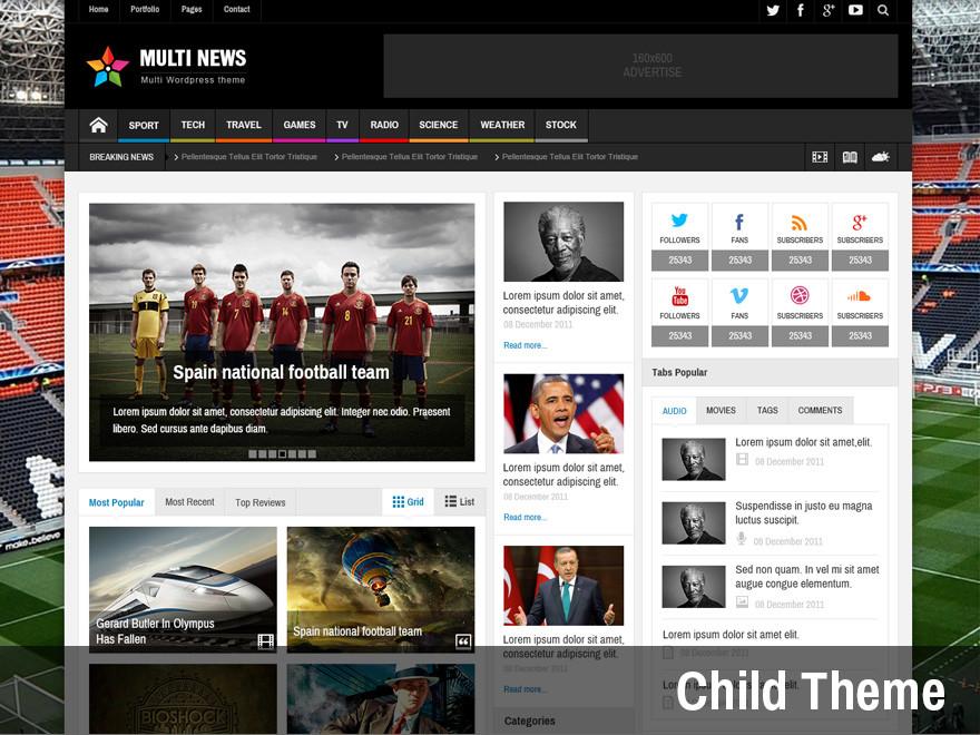 مالتي نيوز MultiNews Wordpress Theme