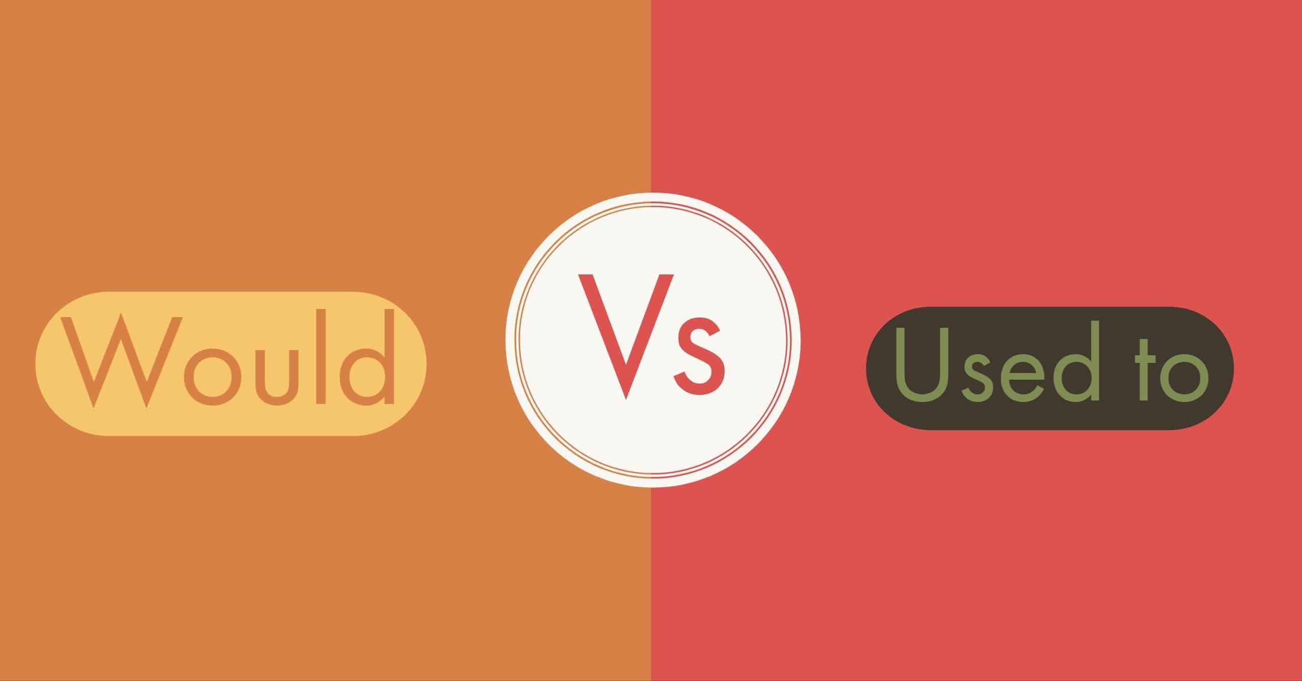 Would Vs. Used to